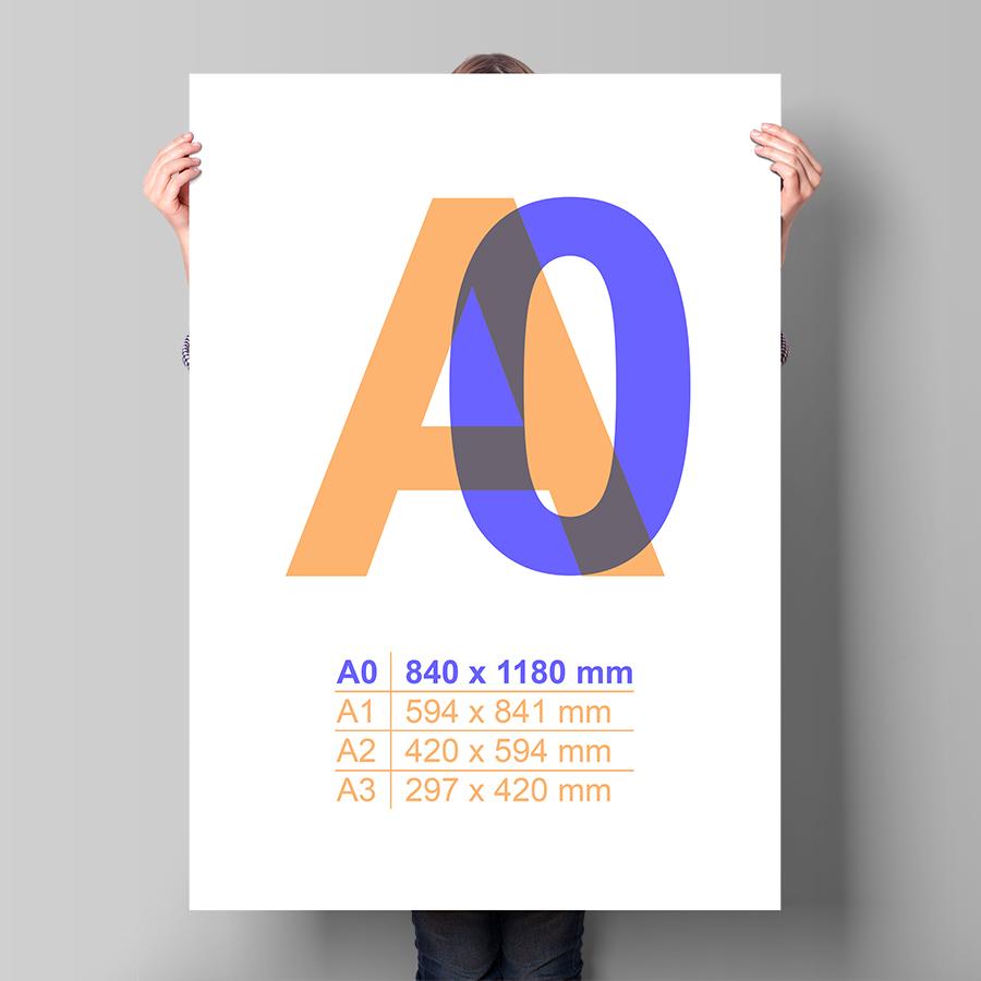 Plakát A0 na výšku