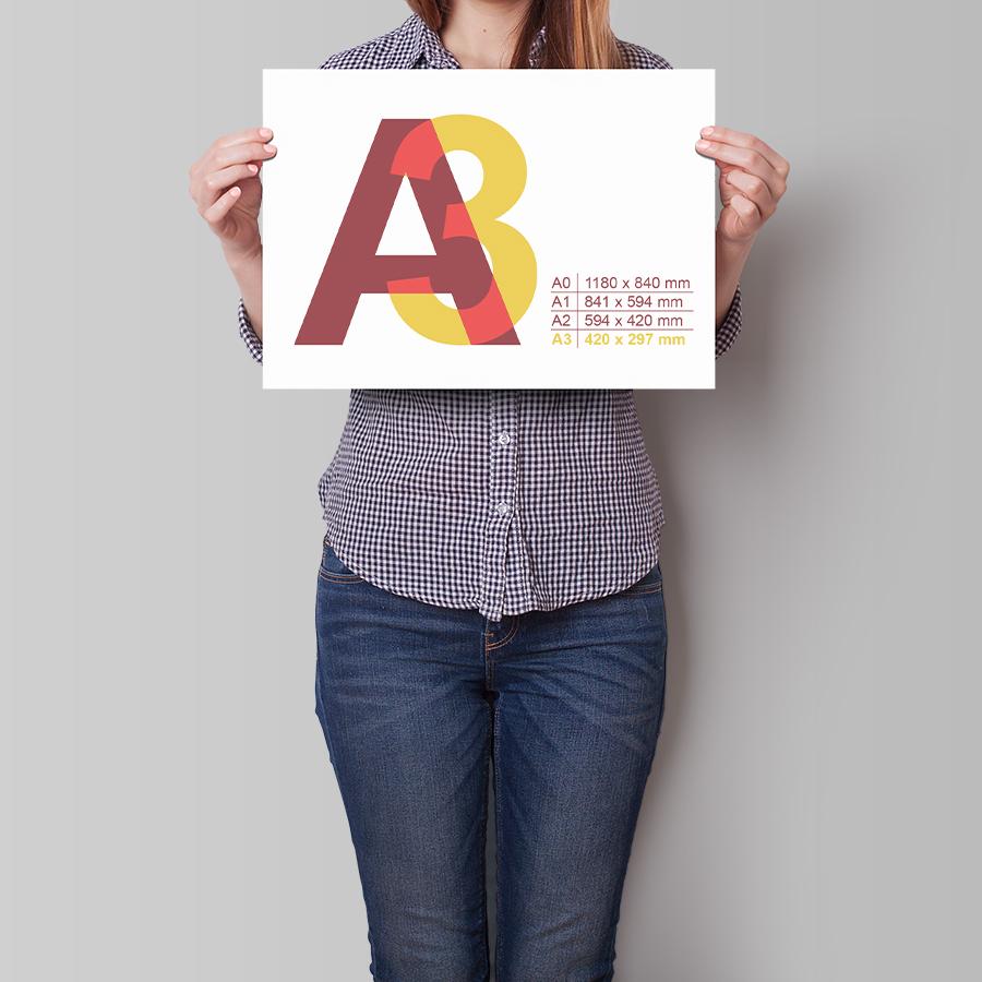 Plakát A3 na šířku