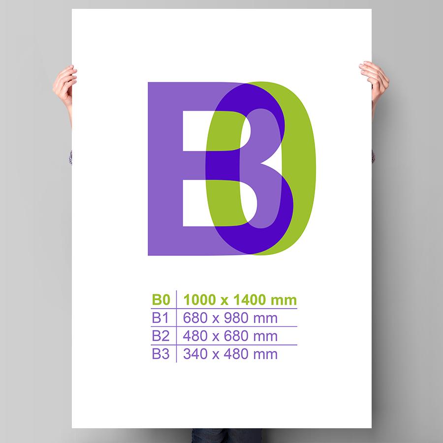 Plakát B0 na výšku