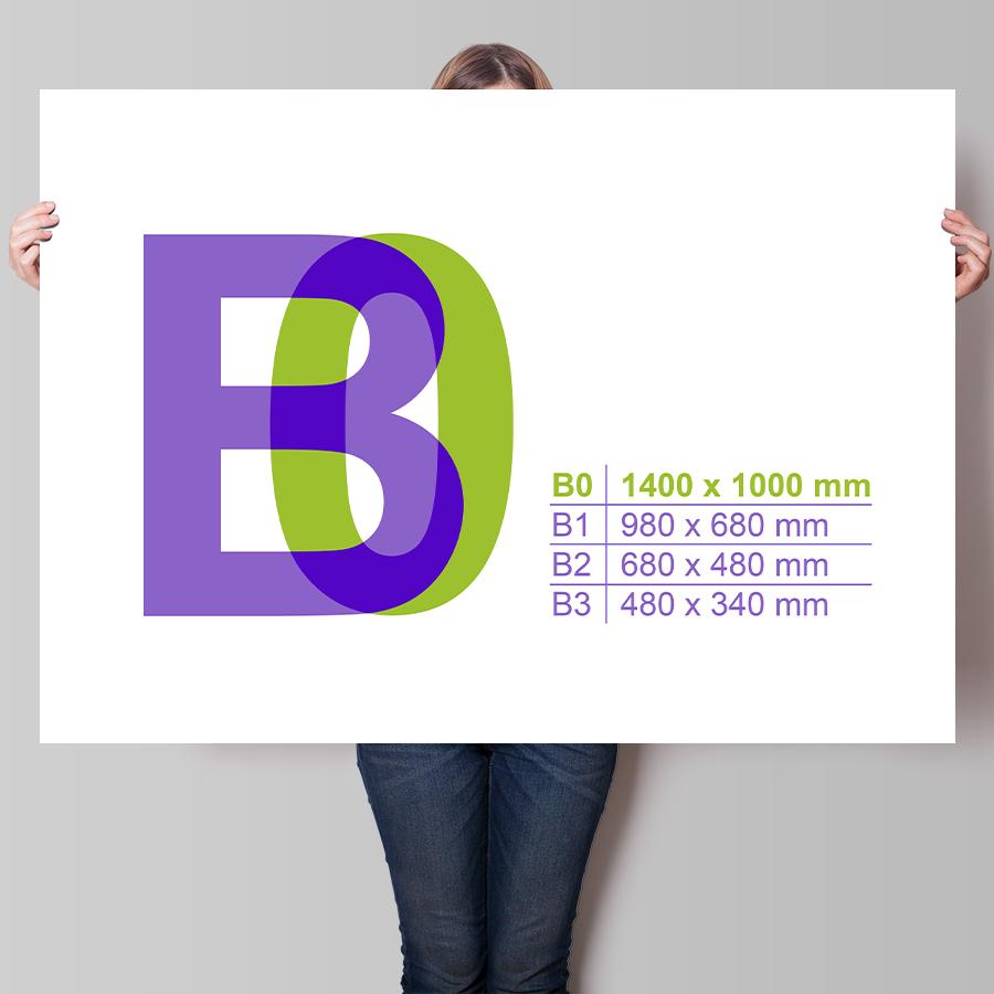 Plakát B0 na šířku