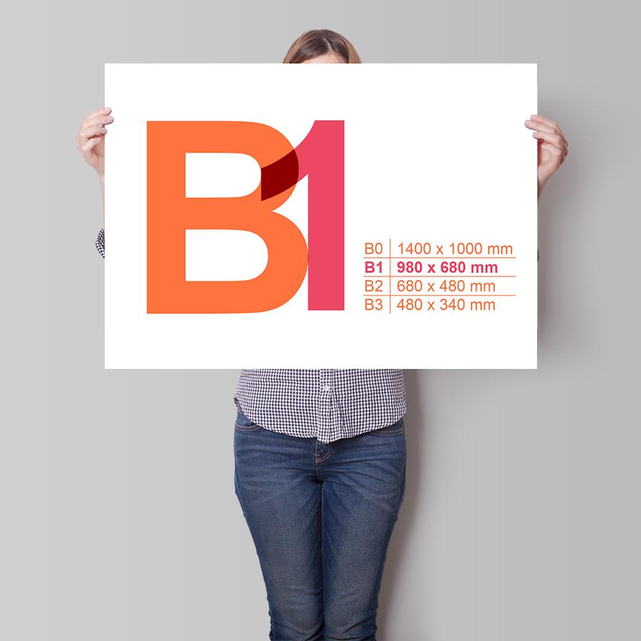 Plakát B1 na šířku
