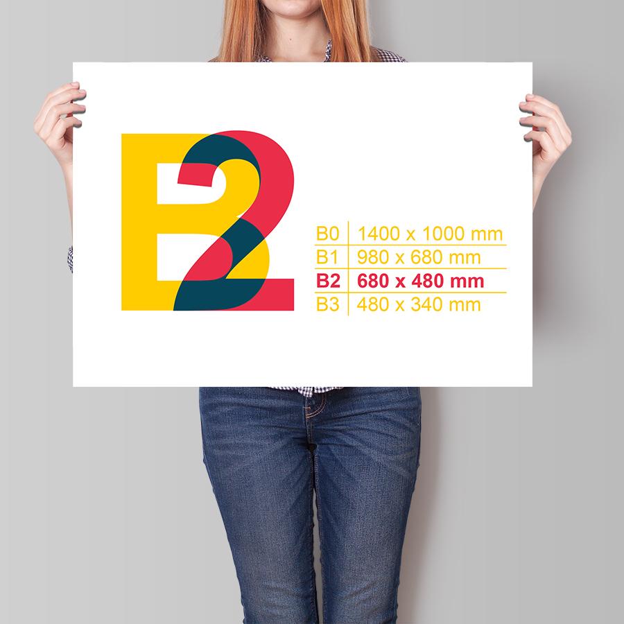 Plakát B2 na šířku
