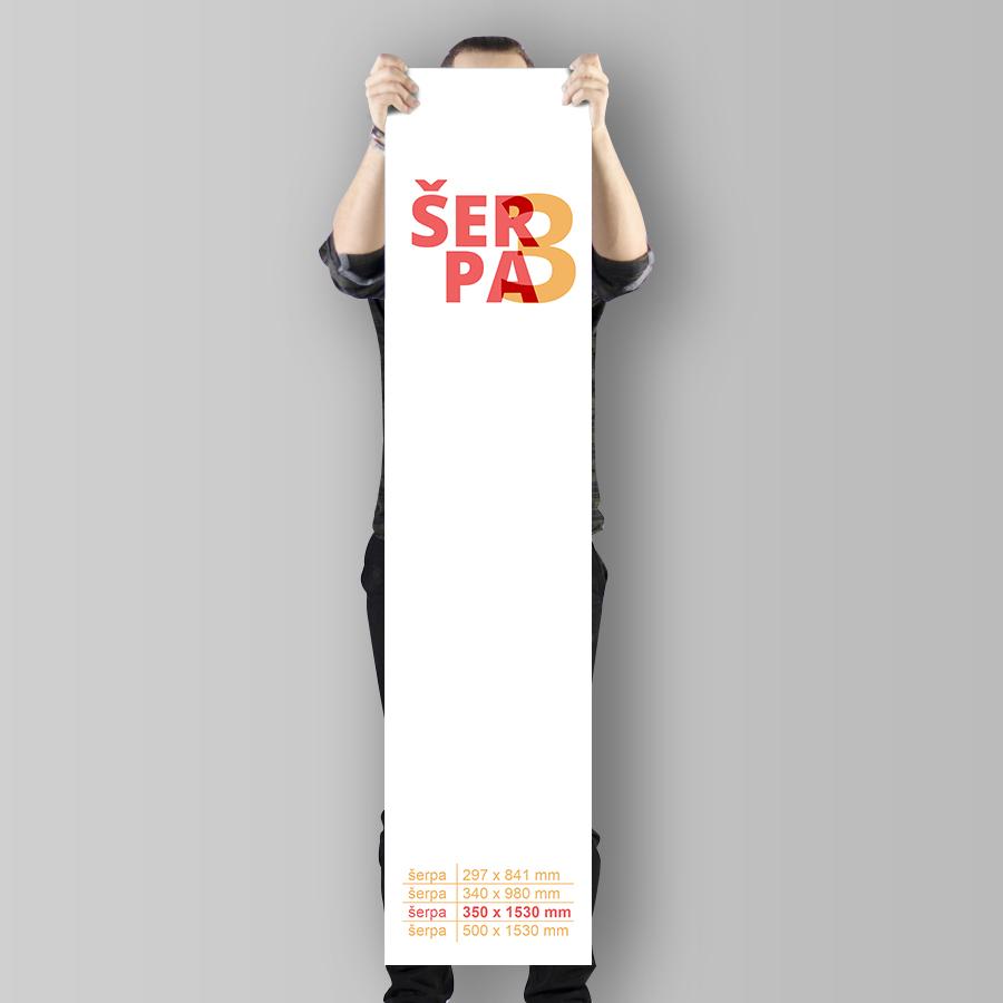 Plakát šerpa (350 x 1530 mm) na výšku