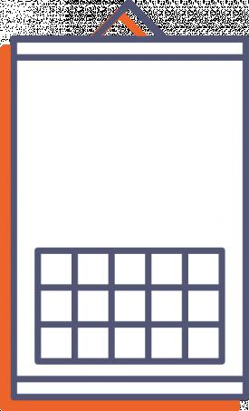 Nástěnný kalendář s lištou