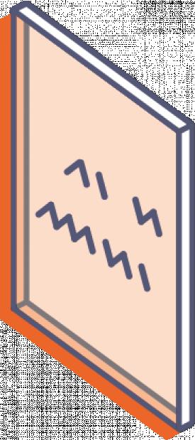 Desky z průhledného plexiskla