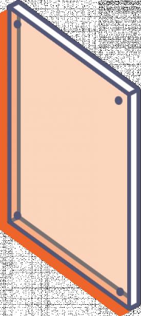 Desky z průhledného plexiskla bez potisku - frézované s otvory