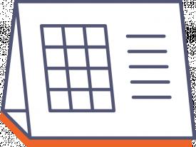 Stolní kalendář s lepeným kalendáriem (měsíční)