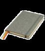 Zápisník A5 s tvrdými deskami a gumičkou - plátnová vazba
