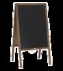 Dřevěné reklamní áčko s křídovou tabulí, bez potisku