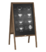 Dřevěné reklamní áčko s křídovou tabulí, s potiskem