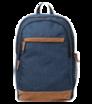 """Univerzální batoh 15"""" tmavomodrý s hnědými prvky"""