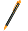 Plastové kuličkové pero soft touch s barevnou sponou