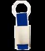 Kovová klíčenka s textilním proužkem