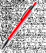 Kovové kuličkové pero se stříbrnými doplňky