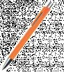 Plastové kuličkové pero s klipem z jednoho prvku
