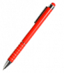 Kovové kuličkové pero se stylusem s dekorací na těle