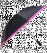 Automatický černý deštník s barevným lemováním