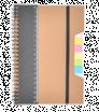 Ekologický zápisník A5 s pravítkem a lepicími bločky
