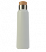 Nerezová bílá termoska s dřevěným uzávěrem 500 ml