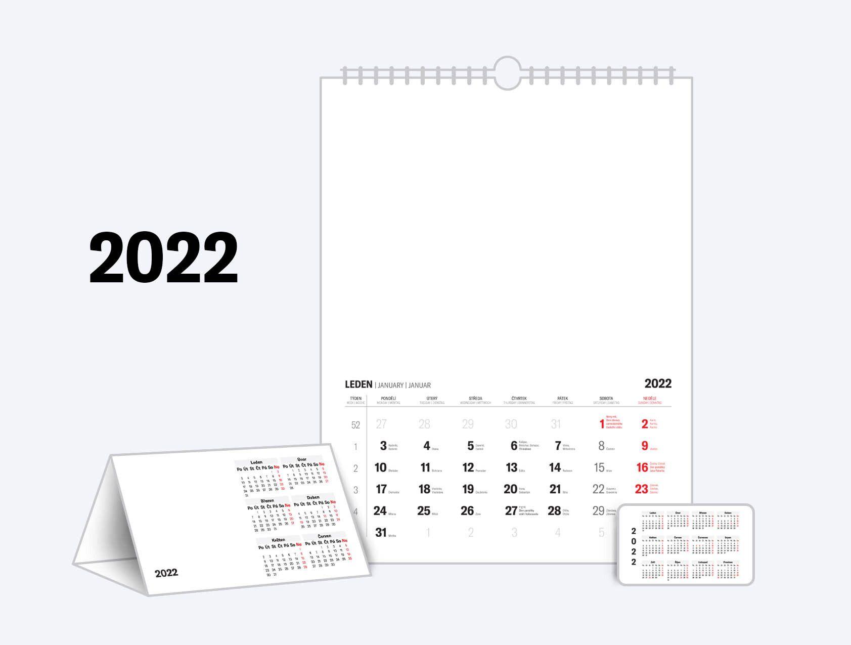 Kalendária 2022 ke stažení