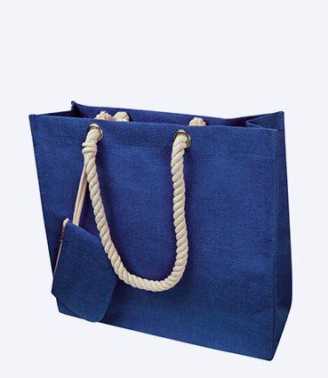 Jutová nákupní taška s pevnými uchy