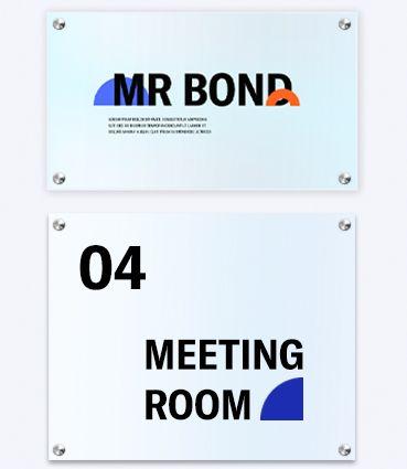 Dveřní tabulky z plexiskla s potiskem