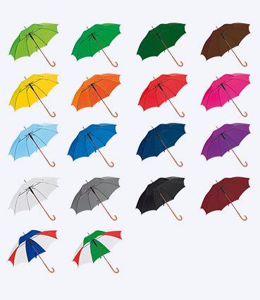Automatický deštník s dřevěnou rukojetí