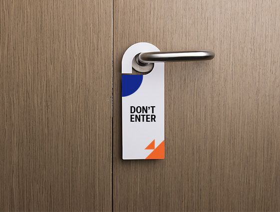 Visačky na dveře online tisk 1