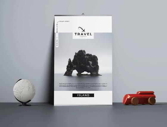 Jednostranný plakát s lištou online tisk 1