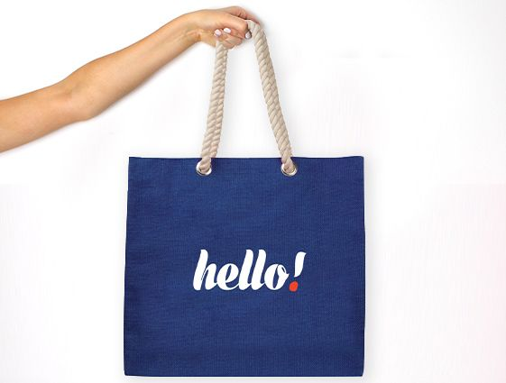 Jutová nákupní taška s pevnými uchy online tisk 1