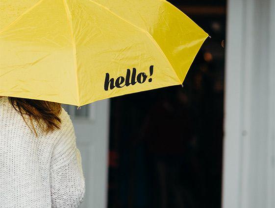 Automatický deštník s dřevěnou rukojetí online tisk 1