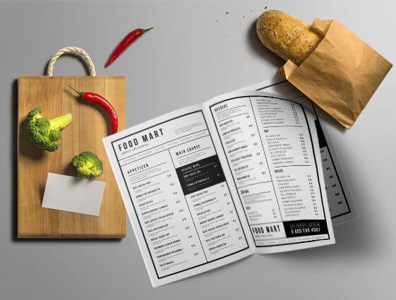 Jídelní a nápojové lístky - sešívané online tisk 2