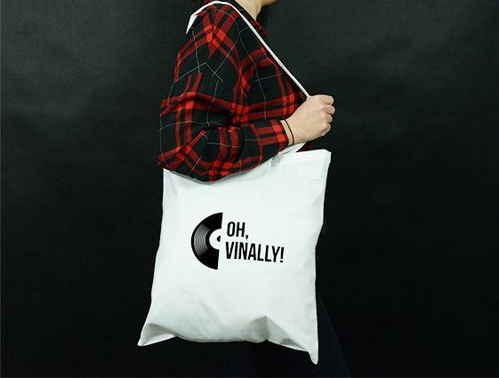 Látková taška - bílá online tisk 2