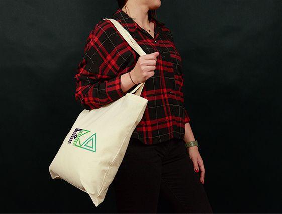 Látková taška - přírodní online tisk 2