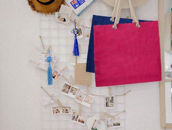 Jutová nákupní taška s pevnými uchy online tisk 2