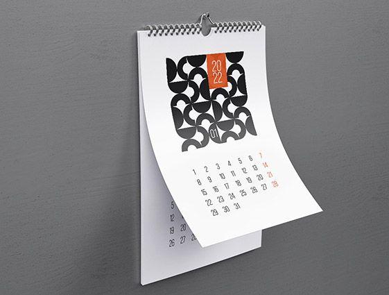 Nástěnný kalendář se spirálou online tisk 2