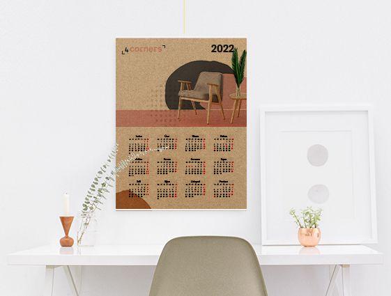 Nástěnný kalendář s lištou online tisk 2