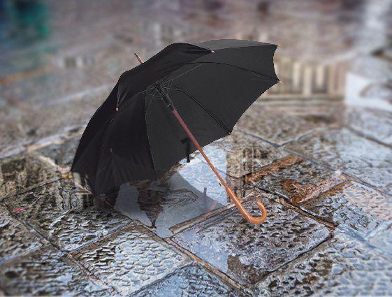 Automatický deštník s dřevěnou rukojetí online tisk 2