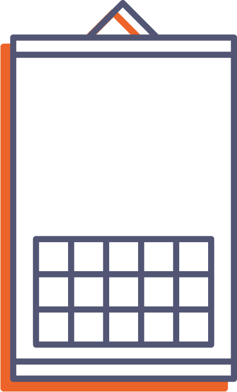 Nástěnný kalendář s lištou online tisk