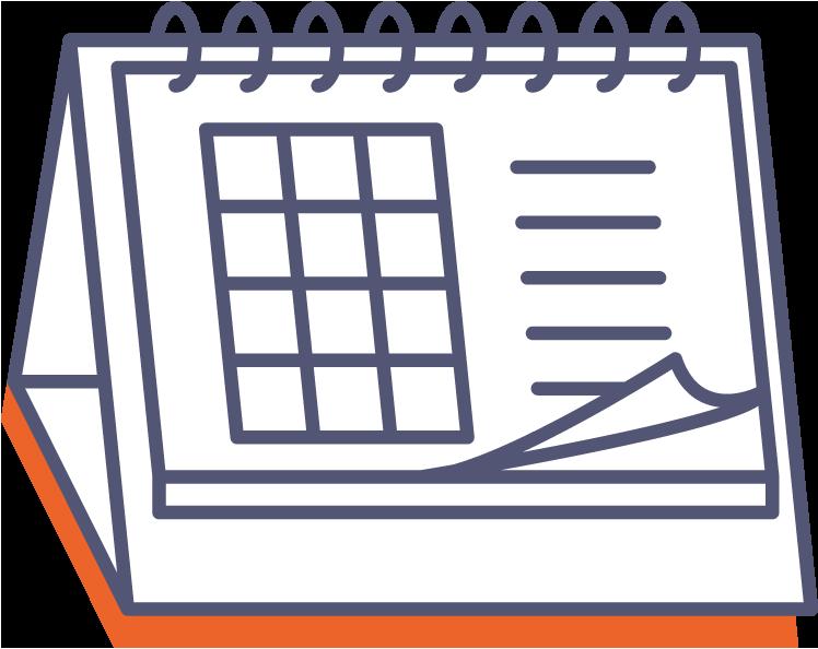 Stolní kalendář se spirálou (měsíční) online tisk