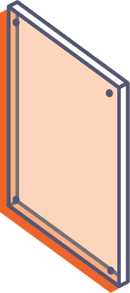 Desky z průhledného plexiskla bez potisku - frézované s otvory online tisk