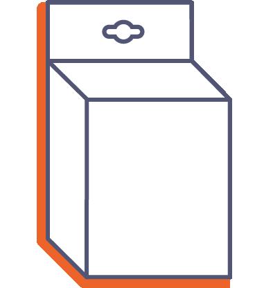 Krabice na produkty - k zavěšení online tisk