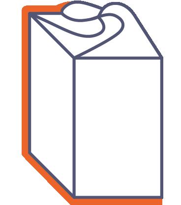 Dárkové krabice s rozetovým uzávěrem, 4 strany online tisk