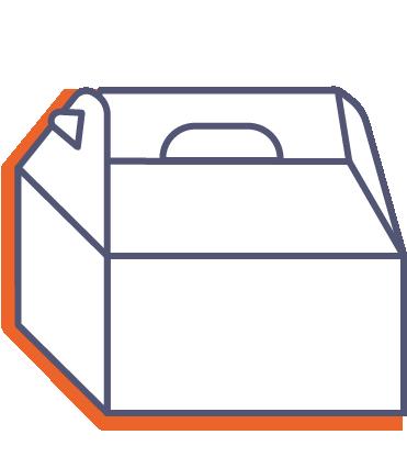Dárkové krabice s rukojetí online tisk