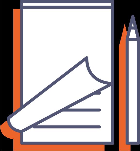 Poznámkové bloky pro číšníky - s obalem online tisk