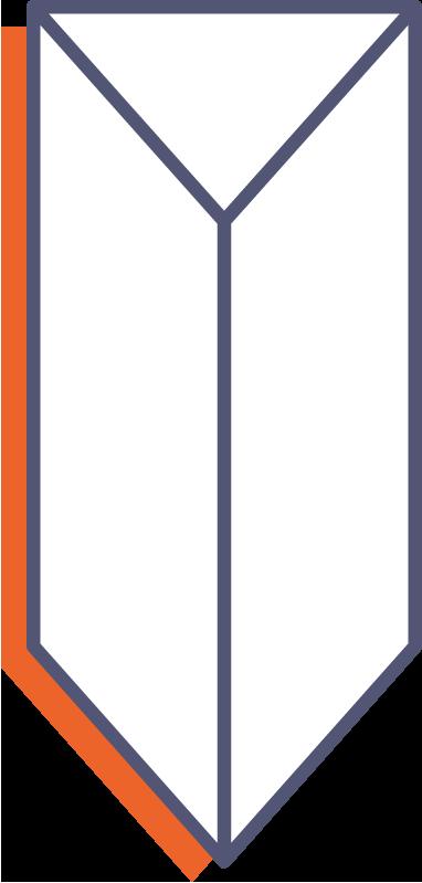 Trojúhelníkové stojánky na stůl - s lepícím pruhem online tisk
