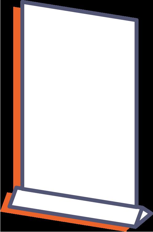 Plastové prezentační stojánky online tisk