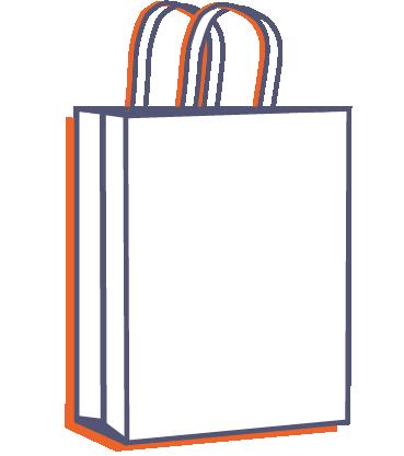 Papírová taška na menubox online tisk