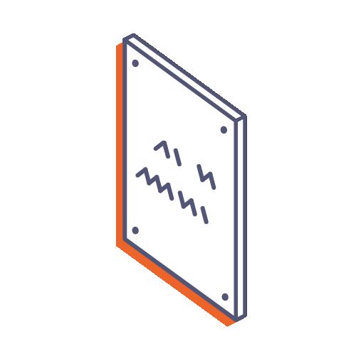 Dveřní tabulky z plexiskla s potiskem online tisk