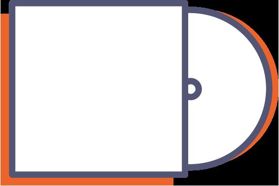 Obal na CD s jednou chlopní online tisk